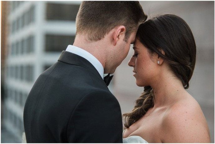 Romantic wedding portrait in downtown LA