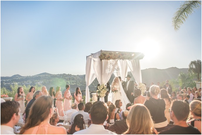 Jewish ceremony at a Bel Air Wedding at a private estate in Bel Air