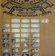 Replacement plaque (Tony Hunt)