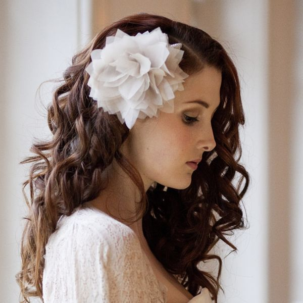 Large Magnolia Blossom Headpiece