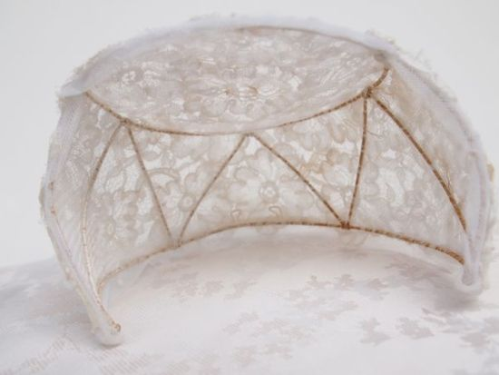Original Vintage 1930's Lace Bridal Cap No.106