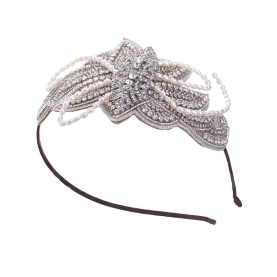 Celebration Rhinestone and Pearl Side Tiara No.7-2