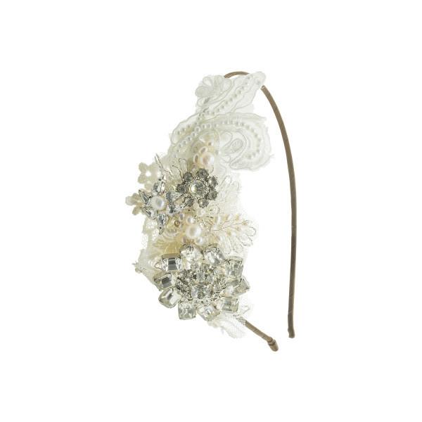 vintage lace side tiara 1506