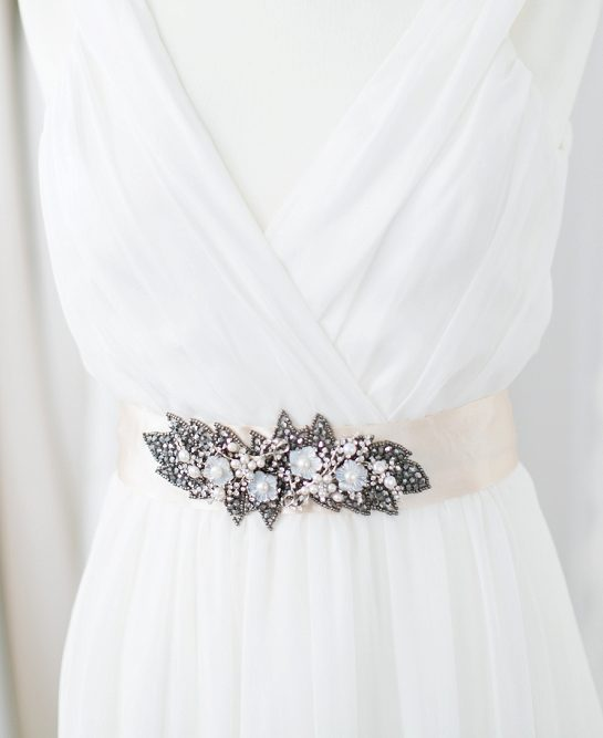 Victoria-Millesime-Gunmetal-and-Pearl-Bridal-Belt-£175