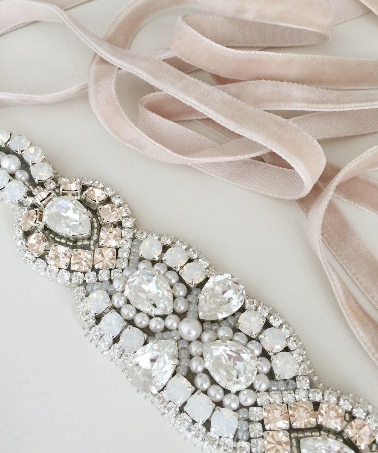 Victoria-Millesime-Bespoke-Silver-and-Pink-Bridal-Belt-Bridal-Sash