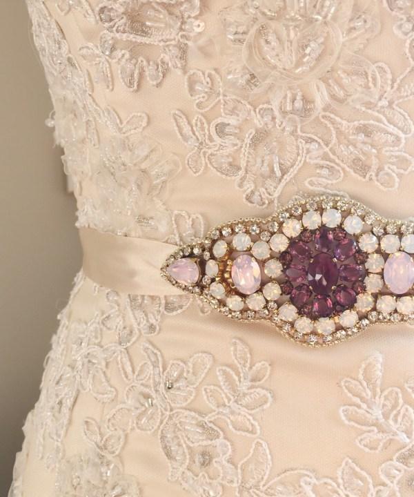 Victoria-Millesime-Bespoke-Bridal-Sash-Purple-Pink-Gold