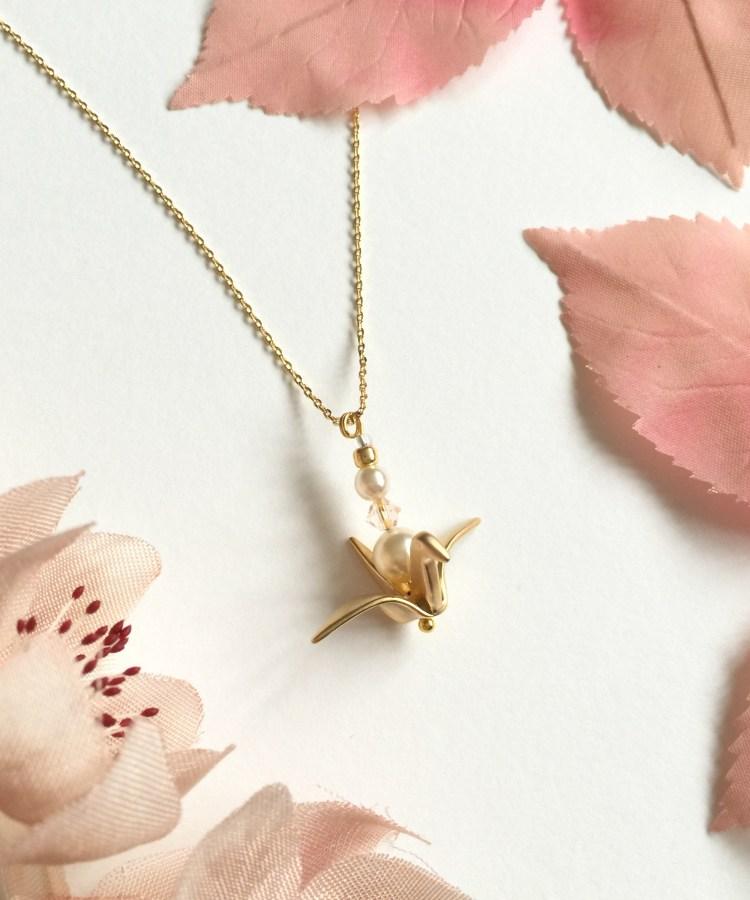 Origami Crane Bridesmaid Necklace