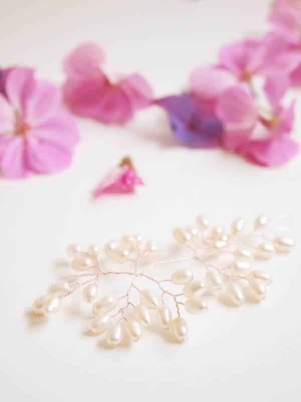 Handmade Pearl Bridal Hair Vine