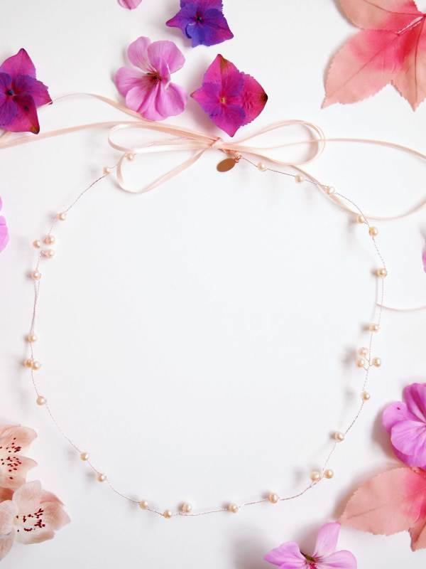Blush Pink Pearl Bridal Halo