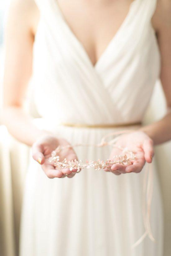 Handmade Cherry Blossom Bridal Halo