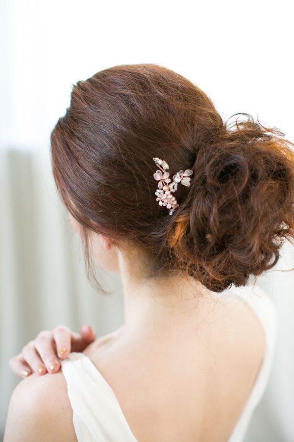 Handmade Cherry Blossom Bridal Hair Pin