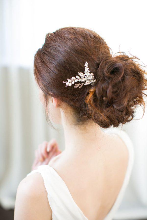 Handmade Pearl Orchid Bridal Hair Pin