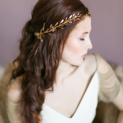 Handmade Ethereal Gold Bridal Halo