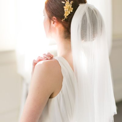 Handmade Gold Bridal Hair Comb