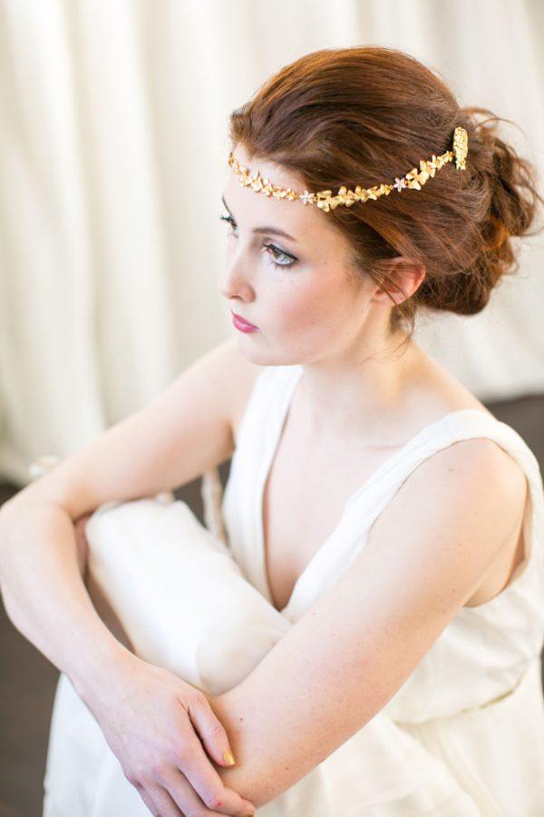 Handmade Gold Bridal Brow Band