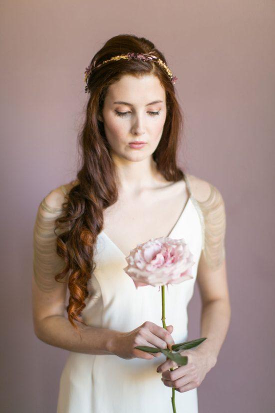 Handmade Gold Odette Bridal Halo