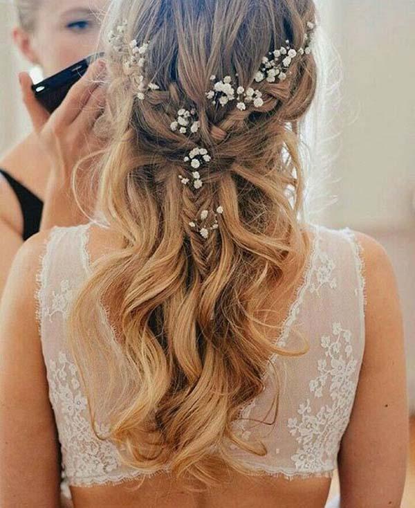 Baby's Breath Wedding Hair Style