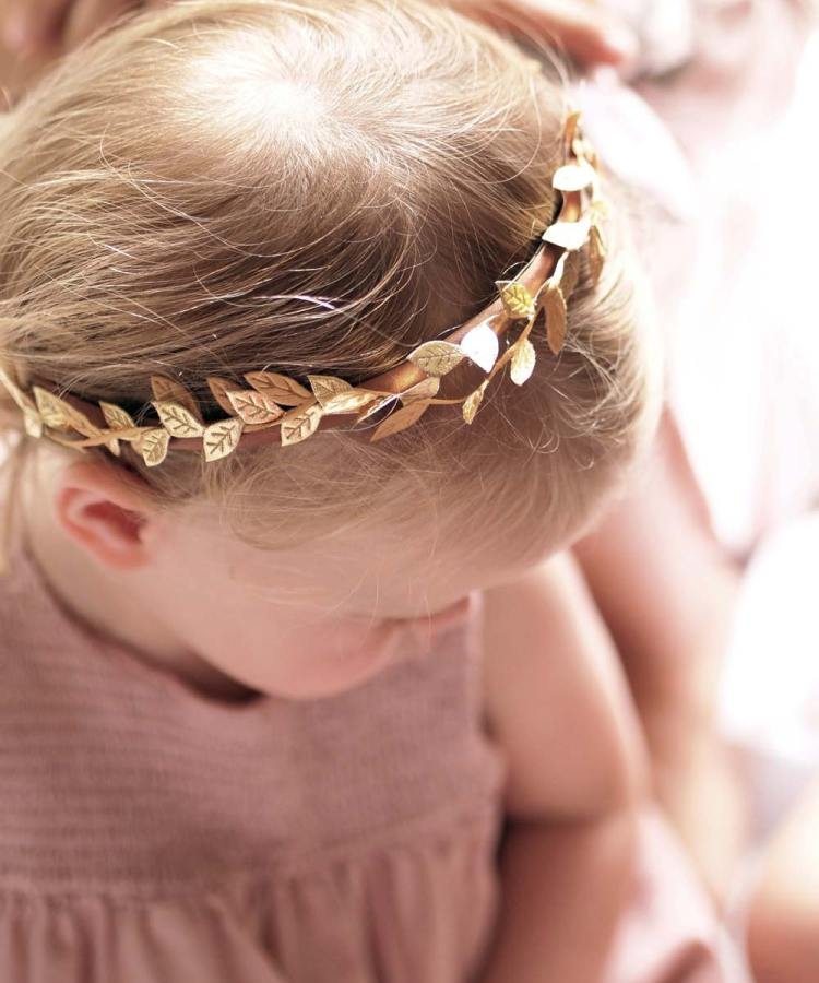 Boho Baby Gold Headband Flower Girl