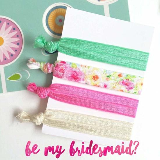 bridesmaid gift hair tie set