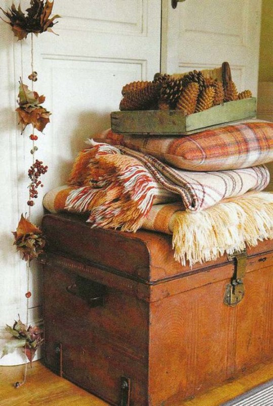 autumn plaid wool blankets