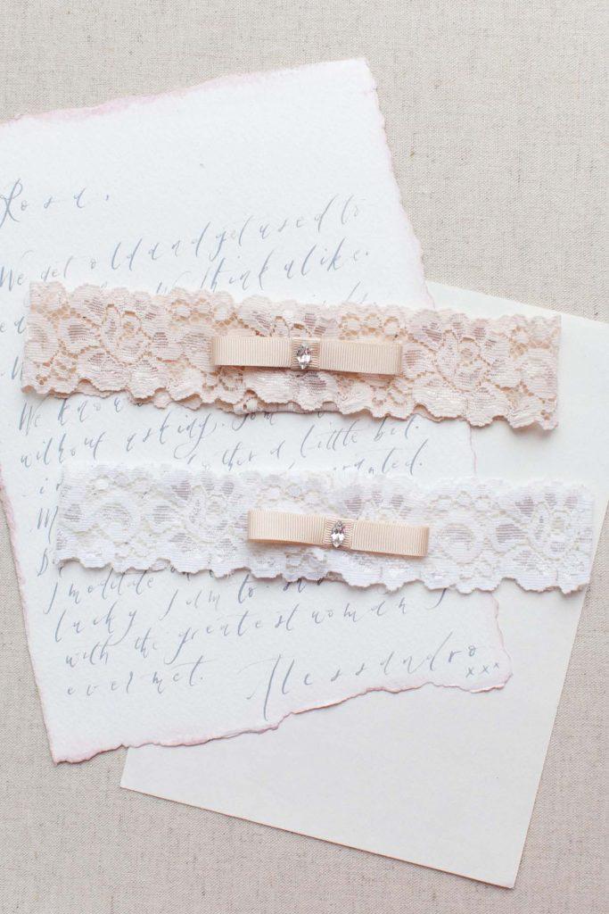 classy wedding garter