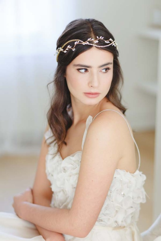 Thea Grecian Sparkle Wedding Halo