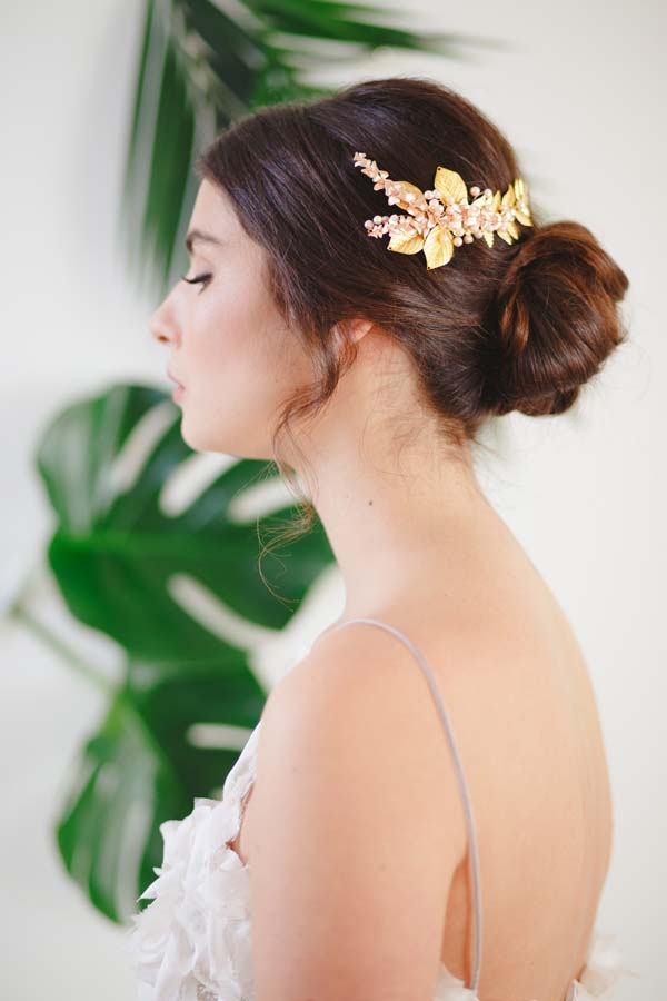 Ariana Gold Bridal Hair Comb