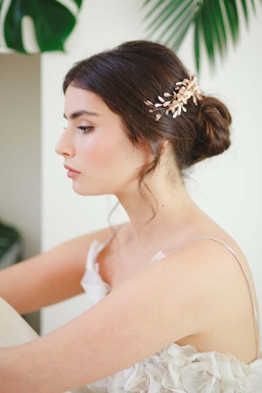 Freya Rose Gold Bridal Hair Vine