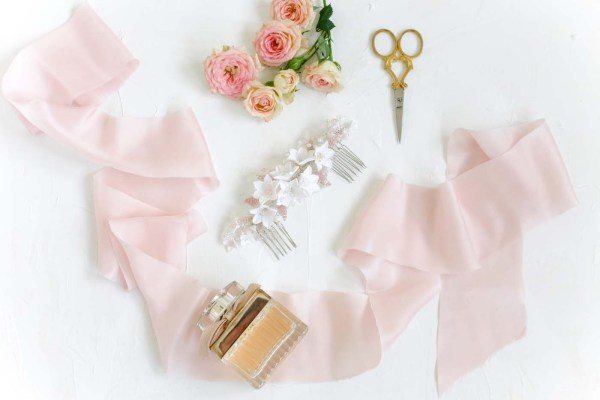clay flower wedding hair comb