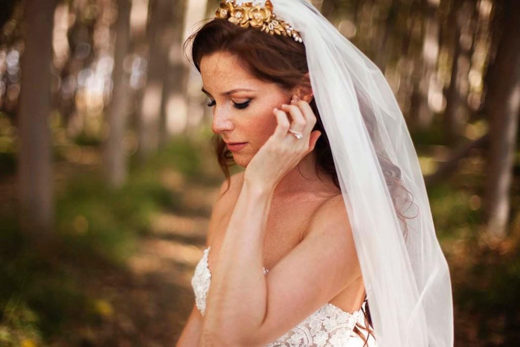 gold wedding bridal crown headpiece