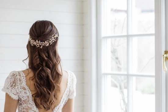 Aster Statement Long Wedding Hair Vine