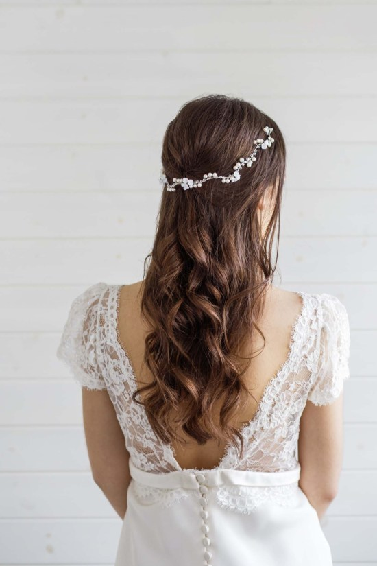 Calla Lily Wedding Hair Vine