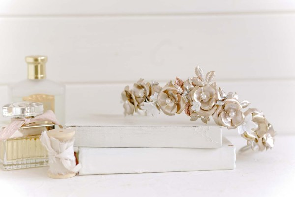 Etoile Gold Wedding Crown