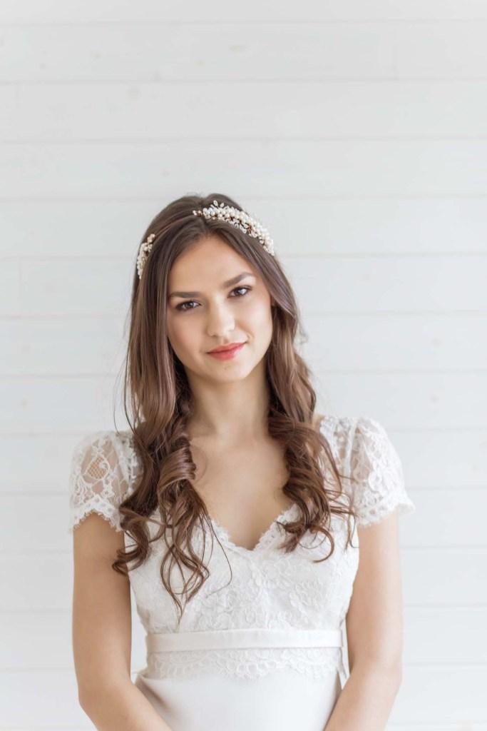 pearl bridal side tiara wedding london