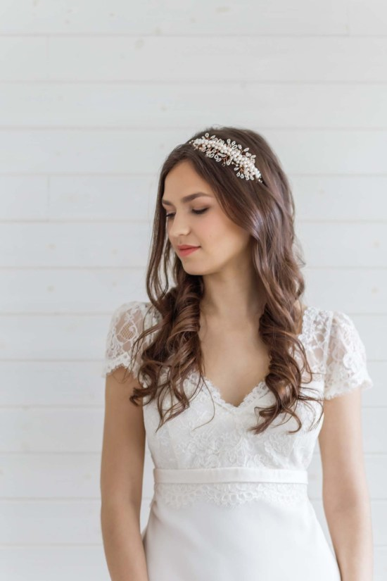 pearl bridal side tiara wedding london