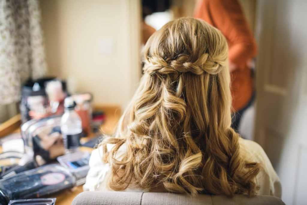 half up half down wedding hair accessories