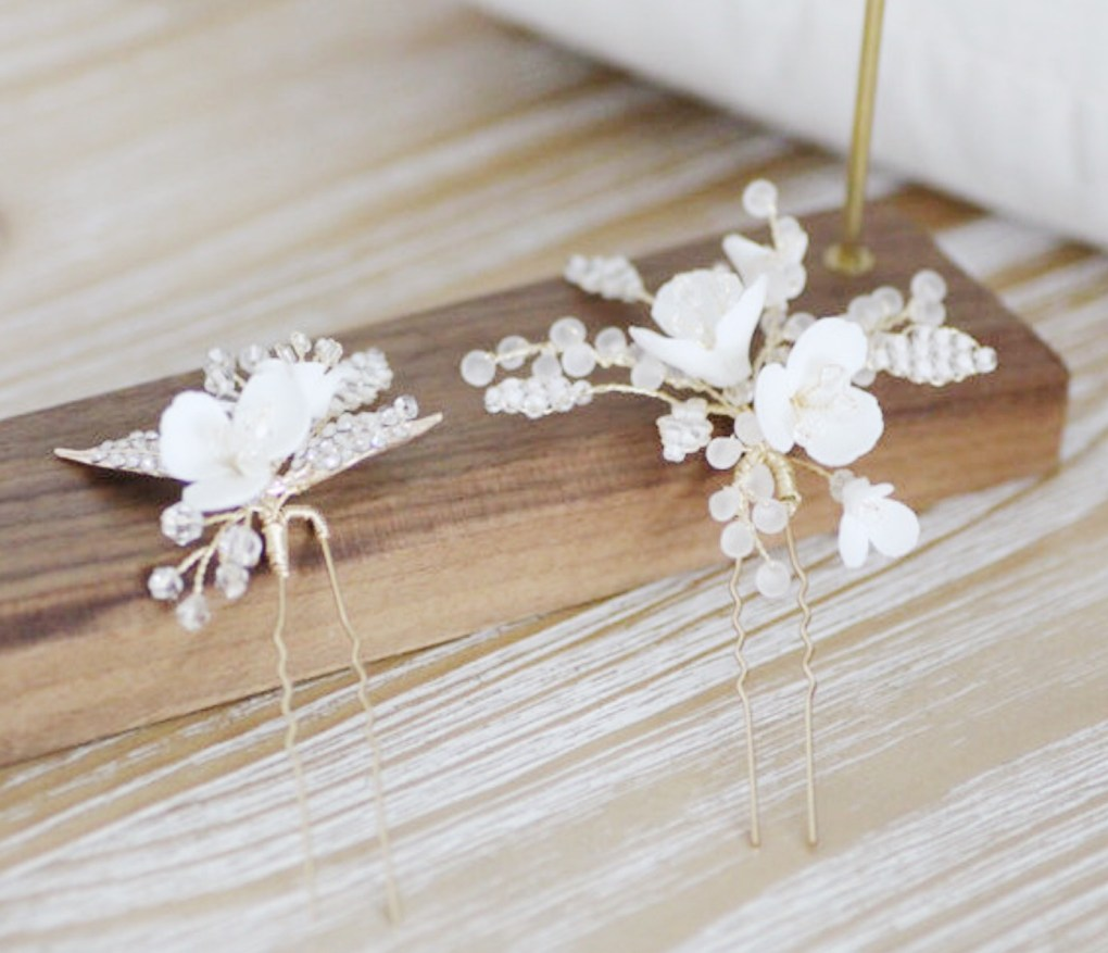 Lotte Ivory Bridal Hair Pin Set