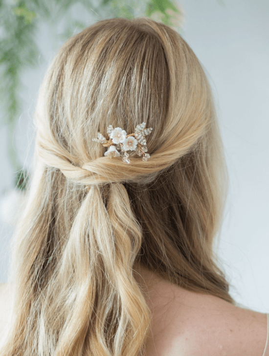 small bridal hair comb