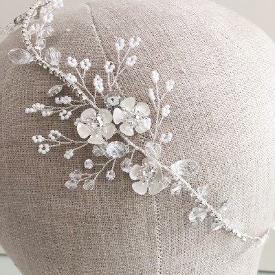 Lilla Silver Wedding Headpiece