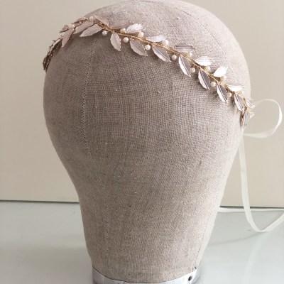 Bramble Gold Leaf Grecian Wedding Hair Vine