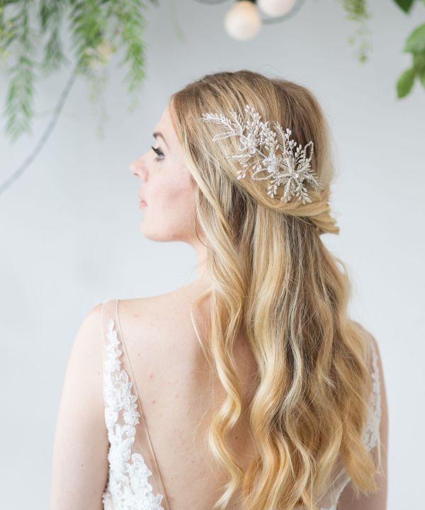 Silver Wedding Hair Comb