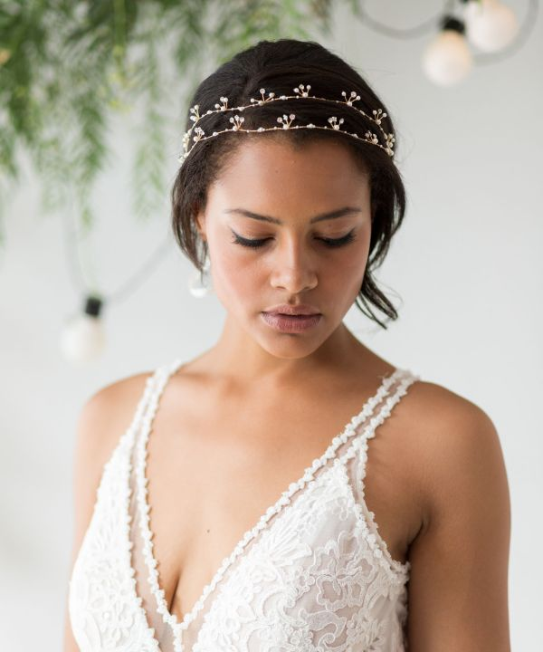 Double Strand Wedding Hair Vine