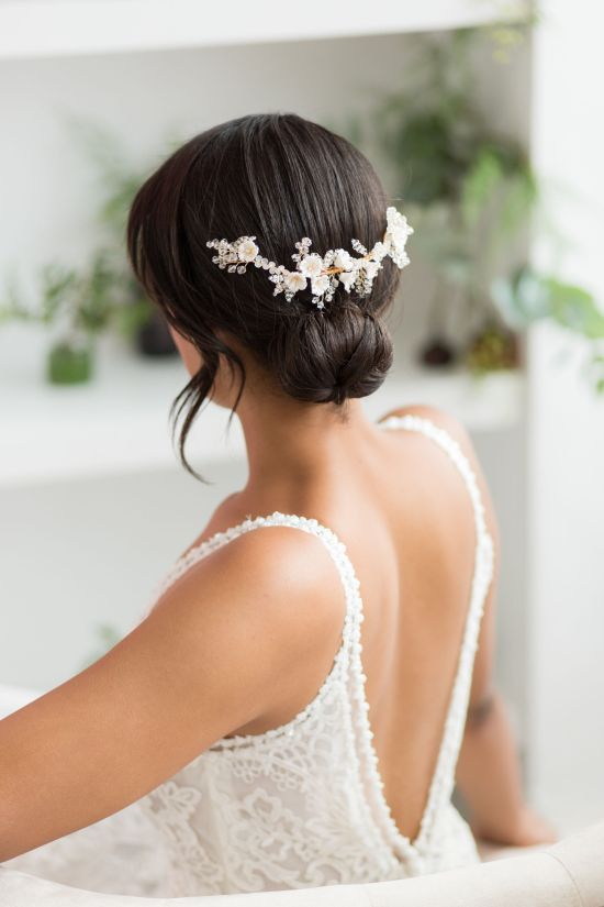 Large Gold Wedding Hair Comb