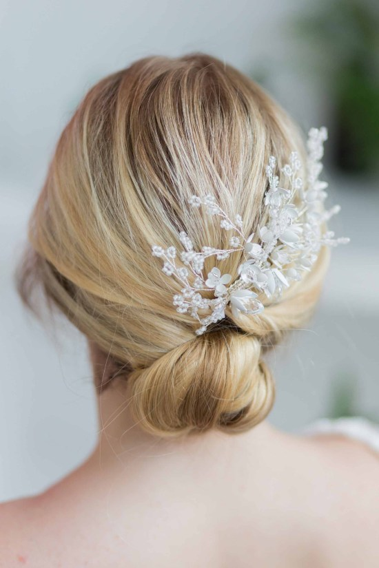 Esmerelda Statement Silver Wedding Hair Comb