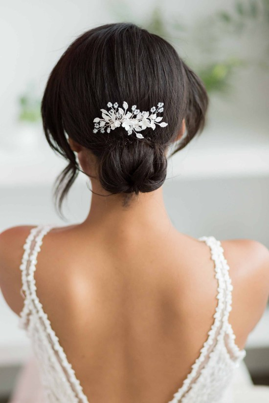 Briallen Silver Wedding Hair Comb