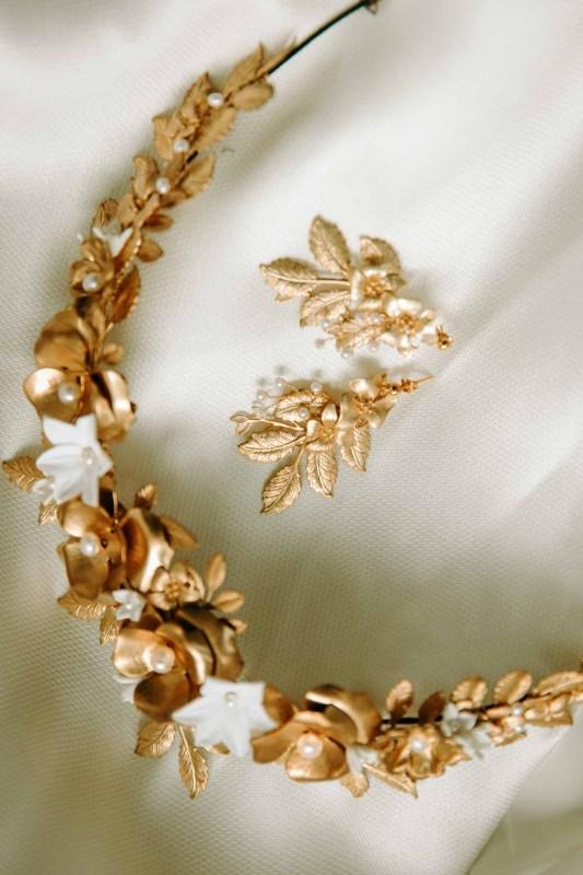bespoke gold wedding tiara