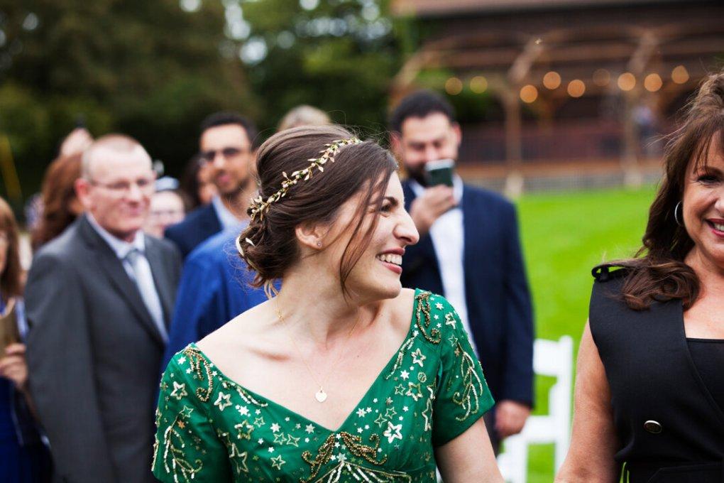 bespoke green wedding halo