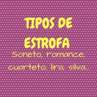 Tipos De Estrofa Soneto Romance Cuarteto Lira Silva