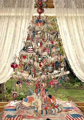 Patriotic Christmas Tree American Christmas
