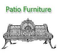 Victorian patio furniture